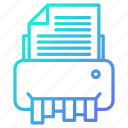 document, machine, printer, shredder icon
