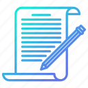 blogging, document, edit, write, writing icon