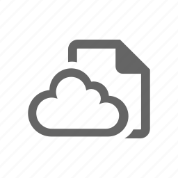 cloud, computer cloud, document, form, note, paper, sheet icon