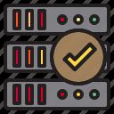 computer, data, storage, success icon