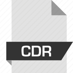 cdr, extension, file, name icon