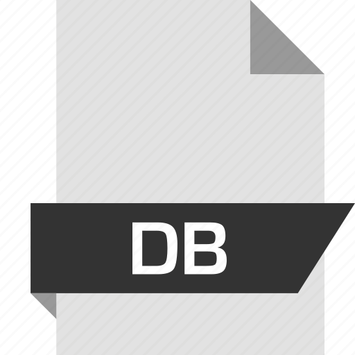 db, extension, file, name icon