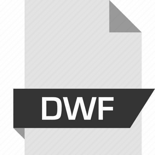 dwf, extension, file, name icon