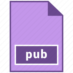 document file format, file format, pub icon