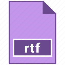 document file format, file format, rtf icon