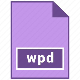 document file format, file format, wpd icon