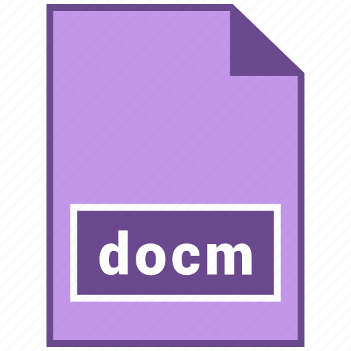 docm, document file format, file format icon