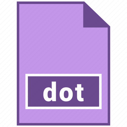 document file format, dot, file format icon