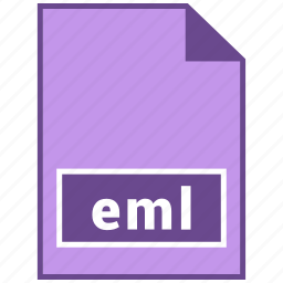document file format, eml, file format icon