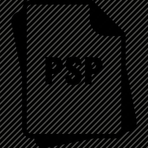 extention, file, paintshop pro image, psp, type icon
