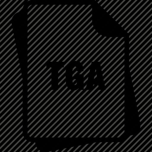 extention, file, targa graphic, tga, type icon