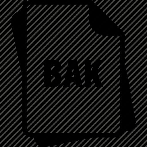 backup file, bak, extention, file, type icon