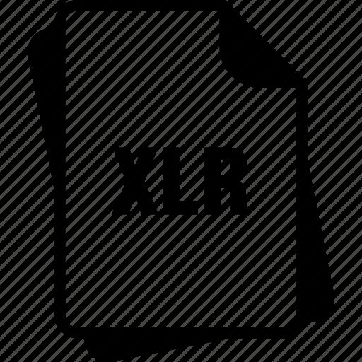 extention, file, type, works spreadsheet, xlr icon
