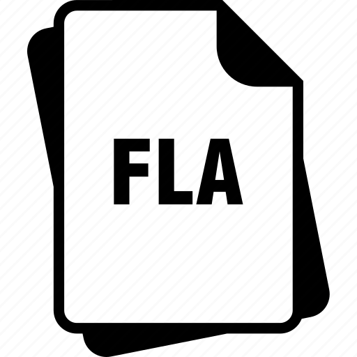 adobe flash animation, extention, file, fla, type icon