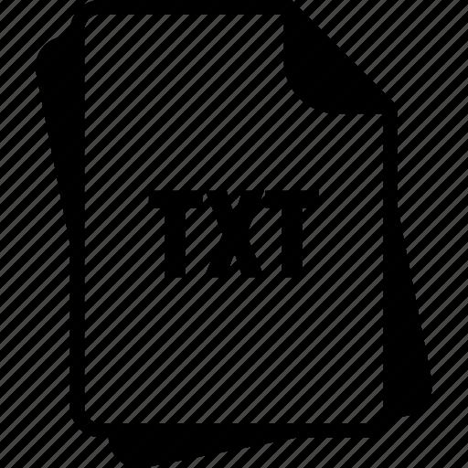 extention, file, plain text file, txt, type icon