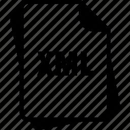extention, file, type, xml, xml file icon