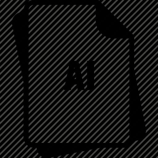 adobe illustrator, ai, extention, file, type icon