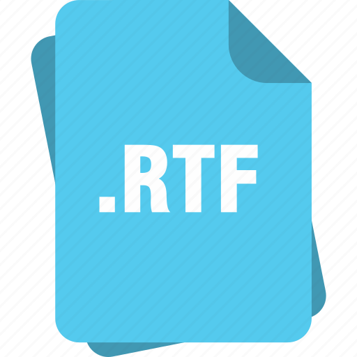 blue, extension, file, page, rtf, type icon