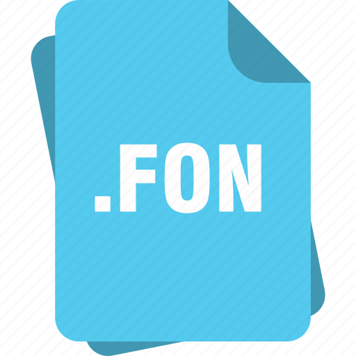 blue, extension, file, fon, page, type icon