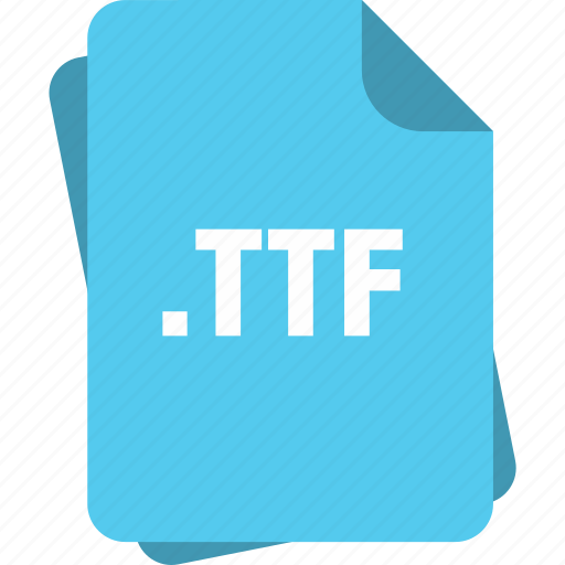 blue, extension, file, font, page, ttf, type icon