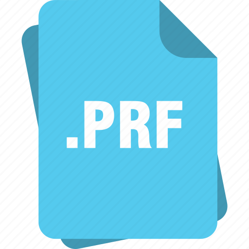 blue, extension, file, page, prf, type icon