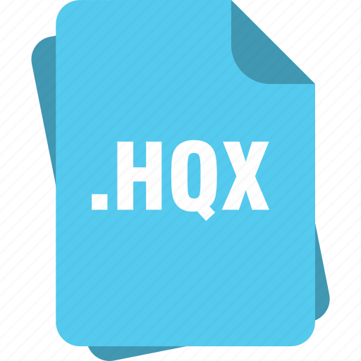 blue, extension, file, hqx, page, type icon