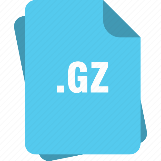 blue, extension, file, gz, page, type icon