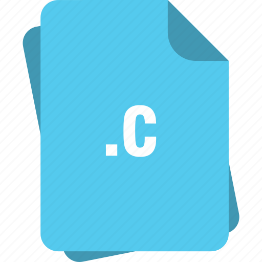 blue, c, extension, file, page, type icon