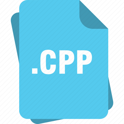 blue, cpp, extension, file, page, type icon