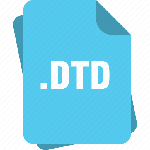 blue, dtd, extension, file, page, type icon