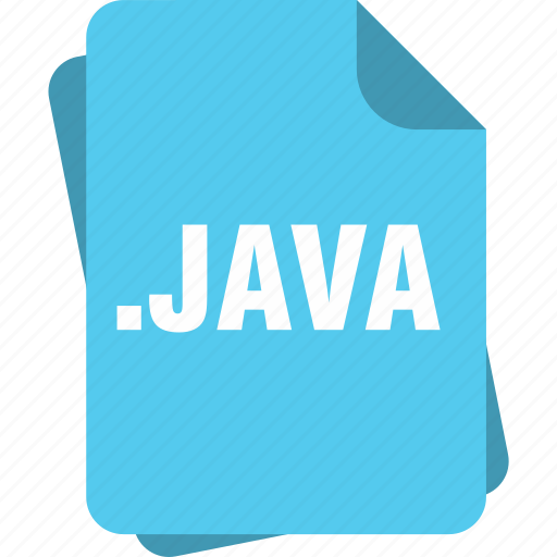 blue, extension, file, java, page, type icon