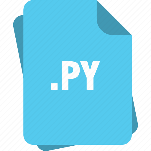 blue, extension, file, page, py, type icon