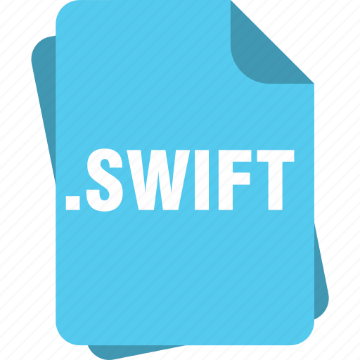 blue, extension, file, page, swift, type icon