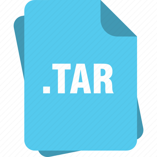 blue, extension, file, page, tar, type icon