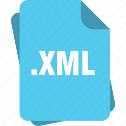 blue, extension, file, page, type, xml icon