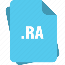 blue, extension, file, page, ra, type icon