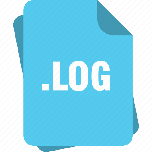 blue, extension, file, log, page, type icon