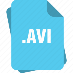 avi, blue, extension, file, page, type icon