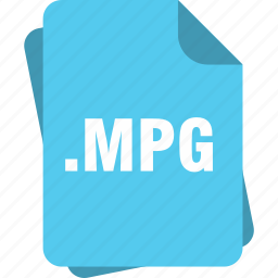 blue, extension, file, mpg, page, type icon