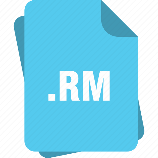 blue, extension, file, page, rm, type icon