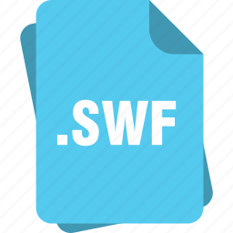 blue, extension, file, page, swf, type icon