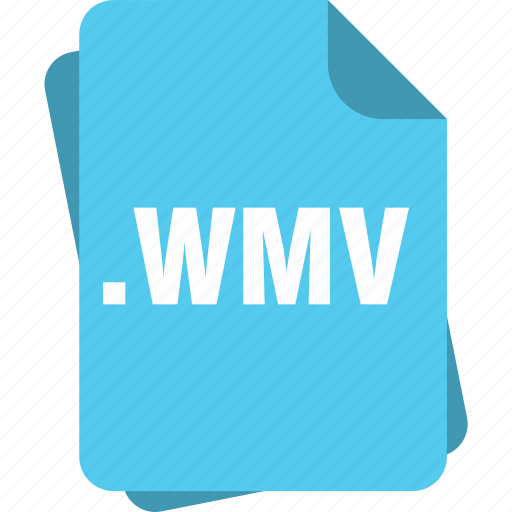 blue, extension, file, page, type, wmv icon