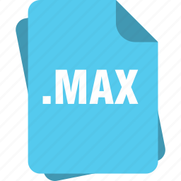 blue, extension, file, max, page, type icon