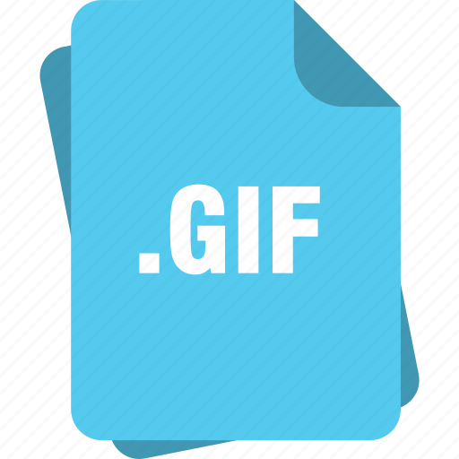 blue, extension, file, gif, page, type icon