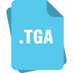blue, extension, file, page, tga, type icon