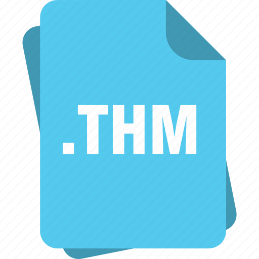 blue, extension, file, page, thm, type icon
