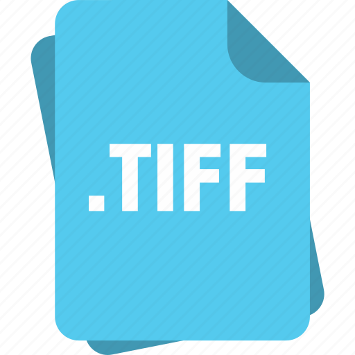 blue, extension, file, page, tiff, type icon