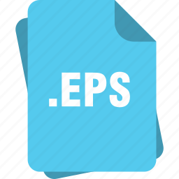 blue, eps, eps file, extension, file, page, type icon