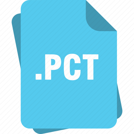 blue, extension, file, page, pct, type icon