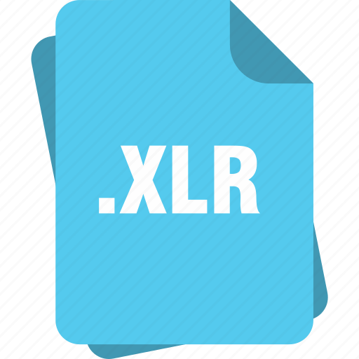 blue, extension, file, page, type, xlr icon